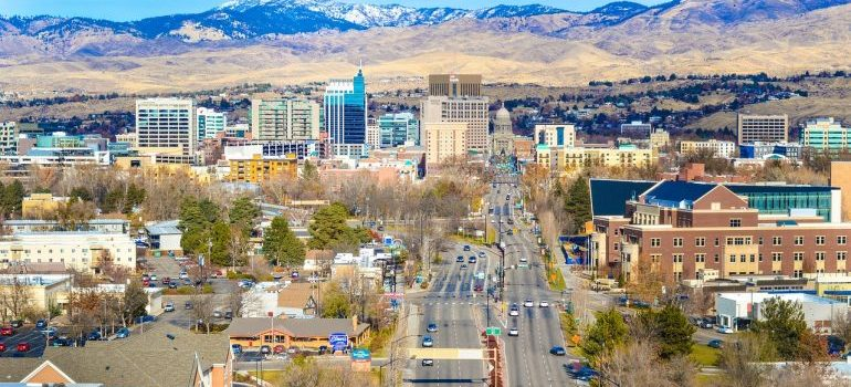 An aerial view of Boise.
