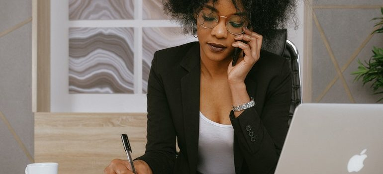 Young business woman.