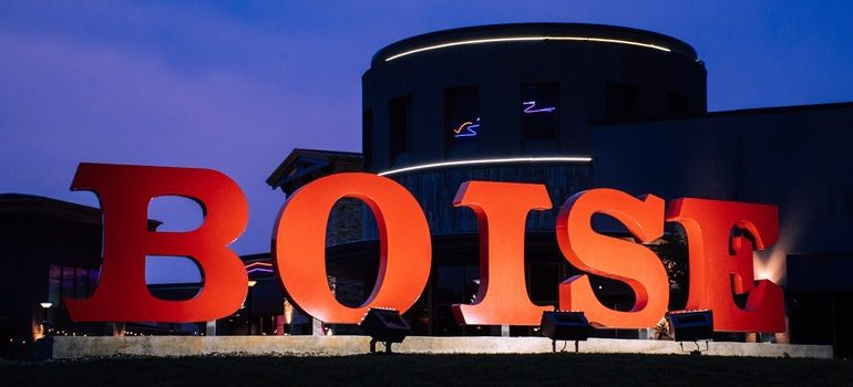 """Sign that says """"Boise""""."""
