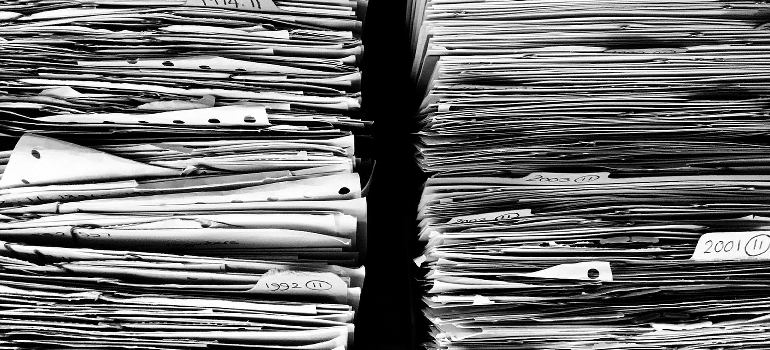 two piles of documents