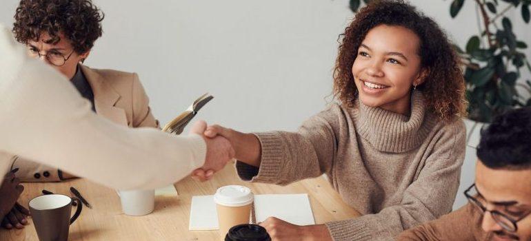 meeting, handshake