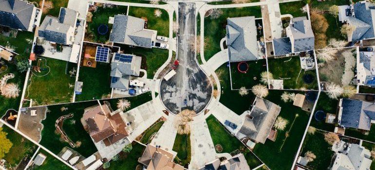 Areal view of one neighborhood