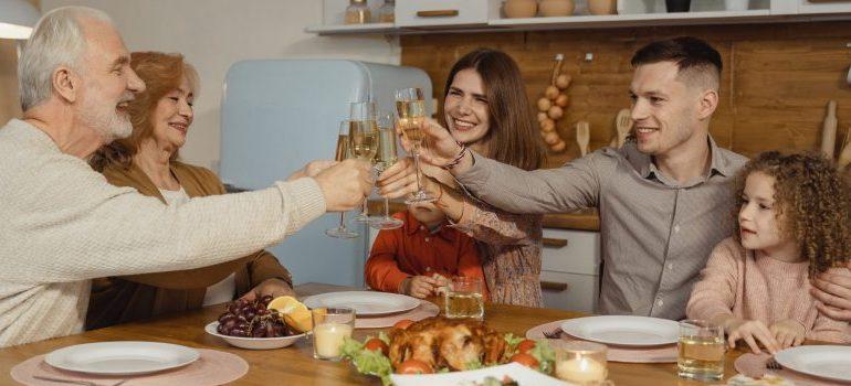 family having a dinner