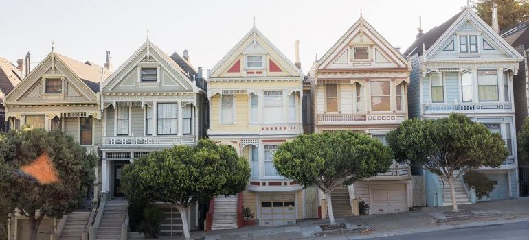 Victorian homes in San Francisco.