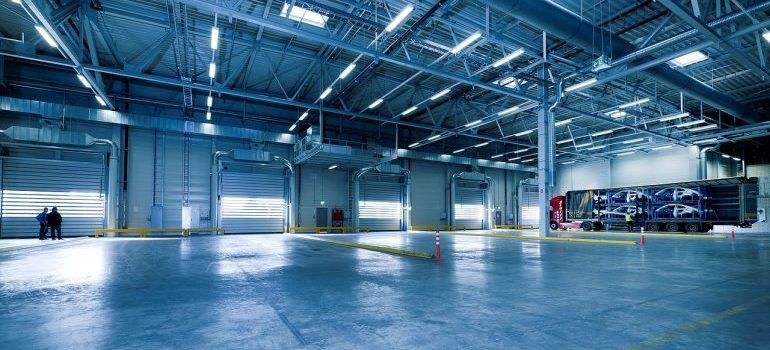 An industrial halll for storing items before shipping