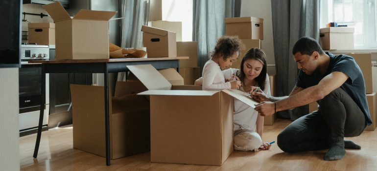 Family getting ready to move to another state