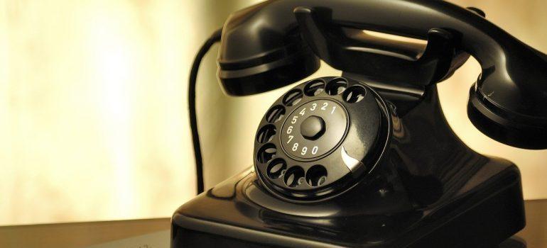 An old-school phone.