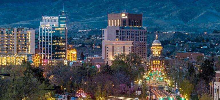 Boise at night.