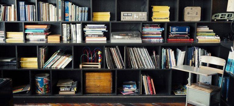 A large bookshelf