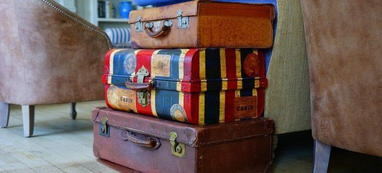 Three suitcases.