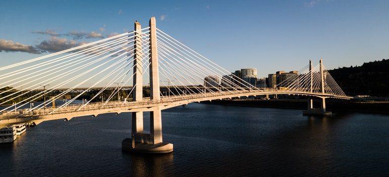 View of a bridge in Portland.