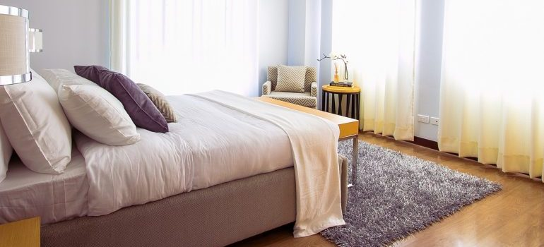 A large bed to disassemble the week before your move.