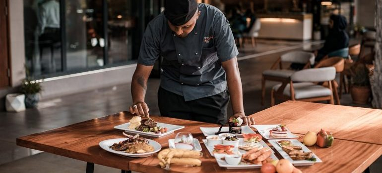 A chef in a restaurant whose dishes to try out after moving from Tucson to Boise.