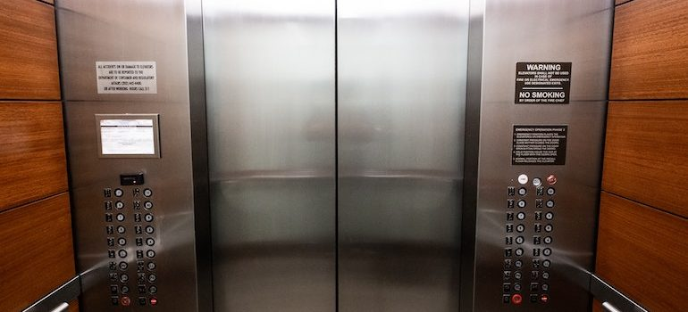 inside of an elevator