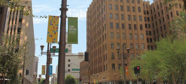 a city block in Phoenix