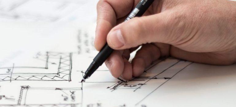 person making a plan