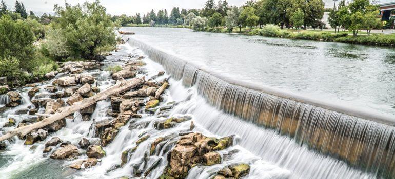 Waterfall in Idaho Falls, ID.